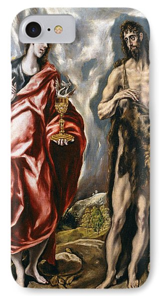 John The Baptist And John The Evangelist  IPhone Case by El Greco
