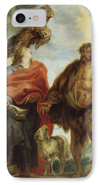 John The Evangelist And Saint John The Baptist IPhone Case by Anthony van Dyck