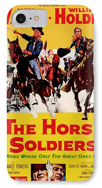 John Wayne And William Holden In The Horse Soldiers 1959 IPhone Case