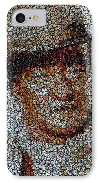 John Wayne Bottle Cap Mosaic Phone Case by Paul Van Scott