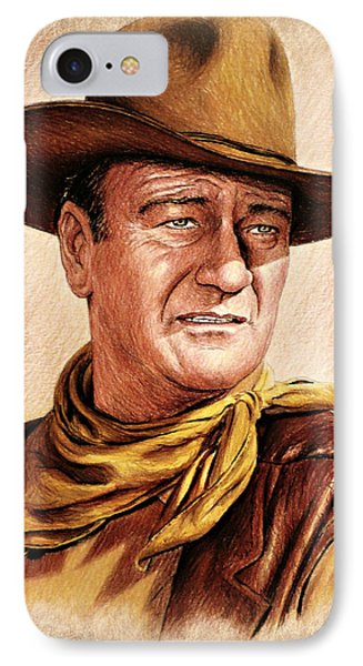 John Wayne Colour Version IPhone Case by Andrew Read