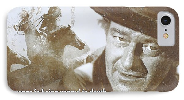 John Wayne - The Duke IPhone Case by Donna Kennedy