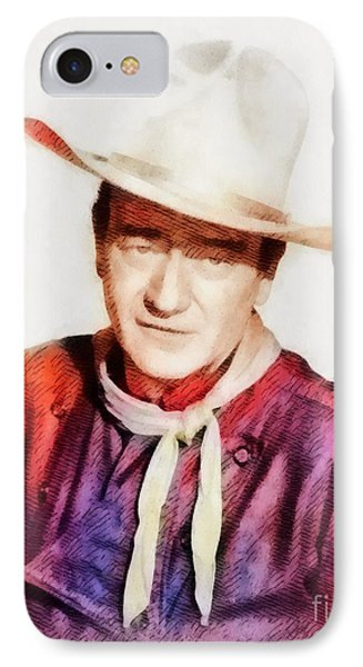 John Wayne, Vintage Hollywood Legend IPhone Case
