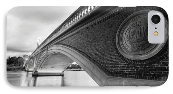 John Weeks Bridge Charles River Harvard Square Cambridge Ma Black And White IPhone Case by Toby McGuire