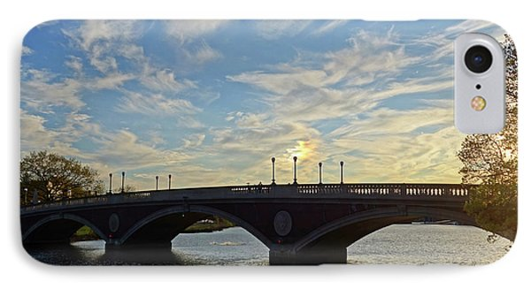 John Weeks Bridge Harvard Square Chales River Sunset IPhone Case by Toby McGuire
