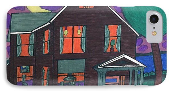 IPhone Case featuring the painting John Wells Home. by Jonathon Hansen