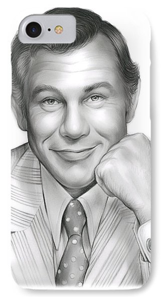 Johnny Carson IPhone 7 Case by Greg Joens
