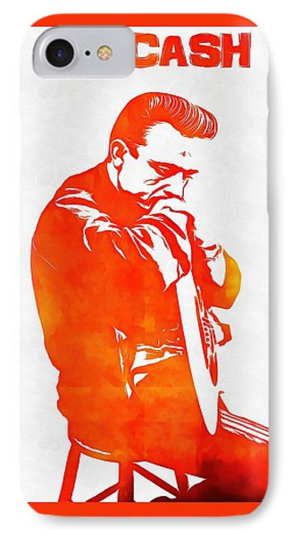 Johnny Cash IPhone Case by Dan Sproul