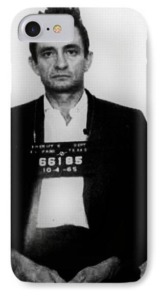 Johnny Cash Mug Shot Vertical IPhone Case by Tony Rubino
