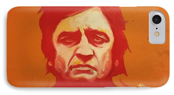 Johnny Cash Orange IPhone Case by Matt Burke