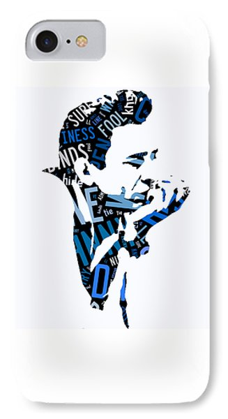 Johnny Cash Song Lyric I Walk The Line IPhone Case by Marvin Blaine