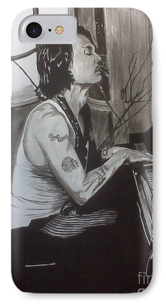 IPhone Case featuring the painting Johnny Depp 1 by Justin Moore