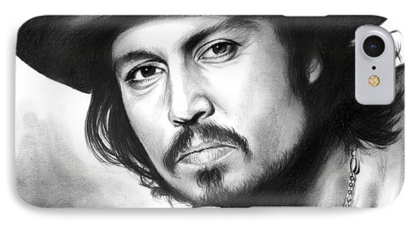 Johnny Depp IPhone Case by Greg Joens