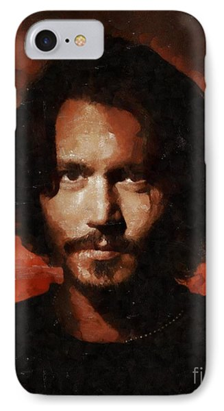 Johnny Depp, Hollywood Legend By Mary Bassett IPhone 7 Case by Mary Bassett