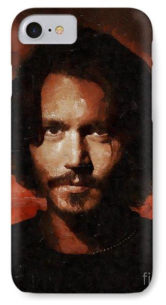 Johnny Depp, Hollywood Legend By Mary Bassett IPhone Case by Mary Bassett
