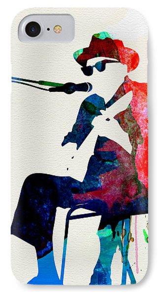 Johnny Lee Hooker Watercolor IPhone Case by Naxart Studio