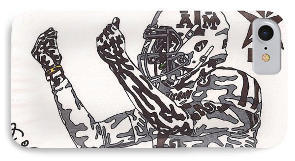 Johnny Manziel 10 Change The Play Phone Case by Jeremiah Colley