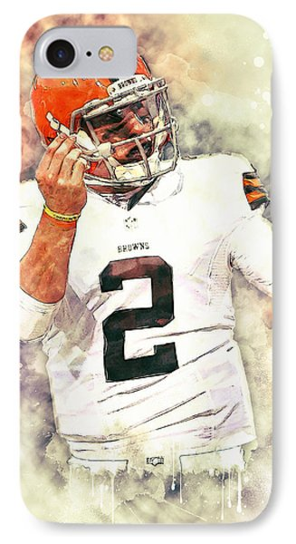 Johnny Manziel IPhone Case by Taylan Apukovska