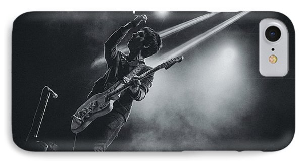 Johnny Marr Playing Live IPhone Case by Marco Oliveira