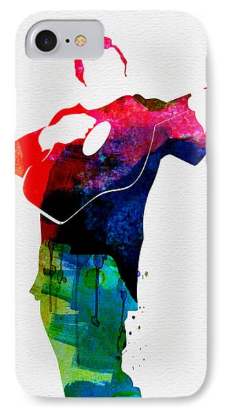 Johnny Watercolor IPhone 7 Case by Naxart Studio
