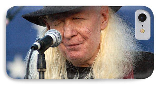 Johnny Winter IPhone Case by Mike Martin
