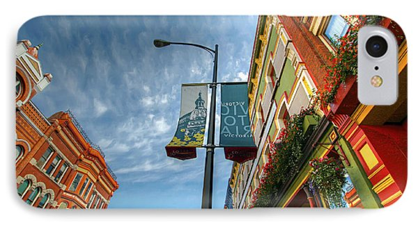 Johnson Street In Victoria B.c. Phone Case by David Gn
