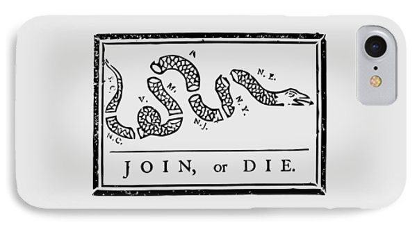 Snake iPhone 7 Case - Join Or Die by War Is Hell Store