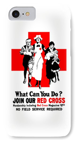 Cross iPhone 7 Case - Join Our Red Cross by War Is Hell Store