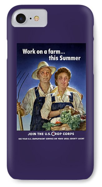 Join The U.s. Crop Corps IPhone Case by War Is Hell Store