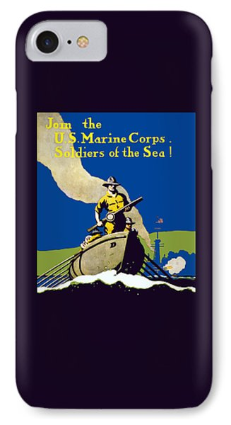 Join The Us Marines Corps Phone Case by War Is Hell Store