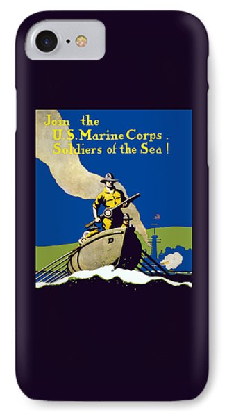 Join The Us Marines Corps IPhone Case by War Is Hell Store