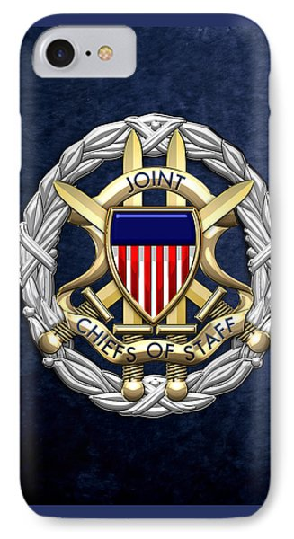 Joint Chiefs Of Staff - J C S Identification Badge On Blue Velvet IPhone Case by Serge Averbukh