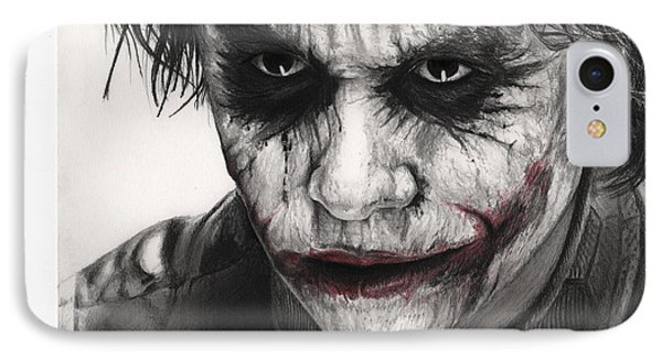 Joker Face IPhone 7 Case by James Holko