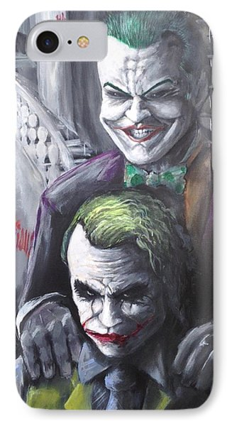 Jokery In Wayne Manor IPhone Case by Tyler Haddox