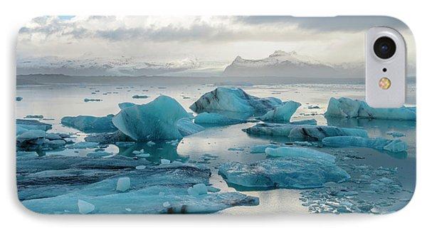 IPhone Case featuring the photograph Jokulsarlon, The Glacier Lagoon, Iceland 6 by Dubi Roman