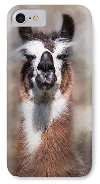 IPhone Case featuring the photograph Jolly Llama by Robin-Lee Vieira