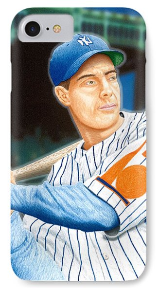 Jolti'n Joe Dimaggio IPhone Case by Robert Williams