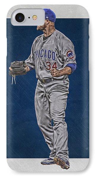 Jon Lester Chicago Cubs Art IPhone Case by Joe Hamilton