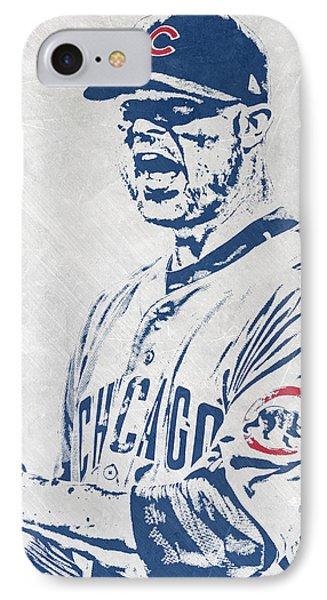 Jon Lester Chicago Cubs Pixel Art IPhone Case by Joe Hamilton
