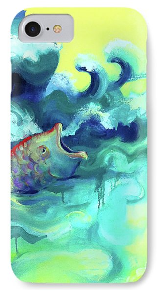 Jonah And The Great Fish IPhone Case by Cathy Jacobs