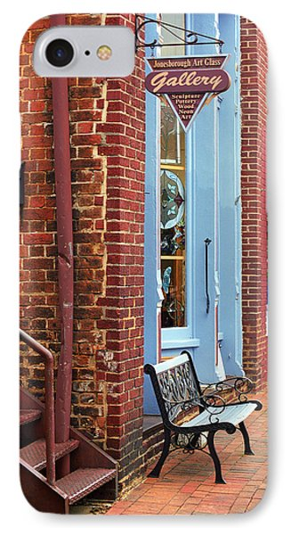 Jonesborough Tennessee Main Street Phone Case by Frank Romeo
