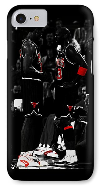 Jordan And Pippen IPhone Case by Brian Reaves