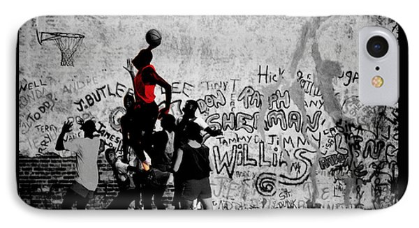 Jordan On The Playground IPhone Case by Brian Reaves