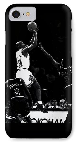 Jordan Over John Starks IPhone Case by Brian Reaves
