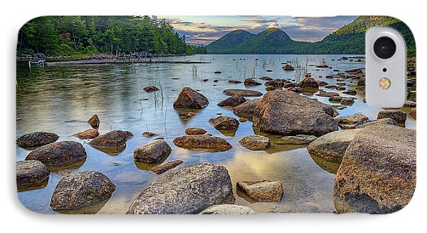 Jordan Pond And The Bubbles IPhone Case by Rick Berk