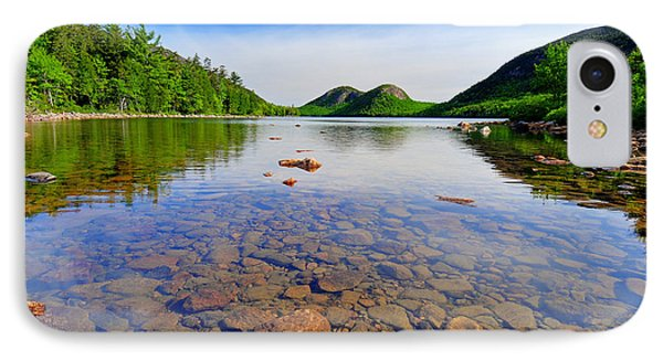 Jordan Pond And The Bubbles Phone Case by Thomas Schoeller
