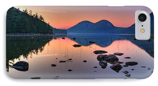 Jordan Pond At Sunset Phone Case by Expressive Landscapes Fine Art Photography by Thom