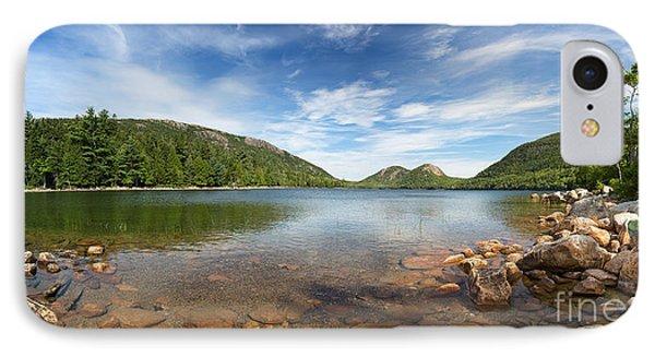 Jordan Pond Panorama IPhone Case by Jane Rix