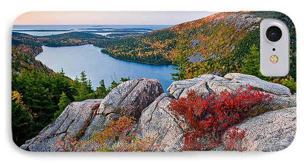 Jordan Pond Sunrise  IPhone Case by Susan Cole Kelly