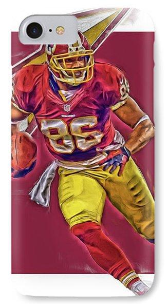 Jordan Reed Washington Redskins Oil Art IPhone Case